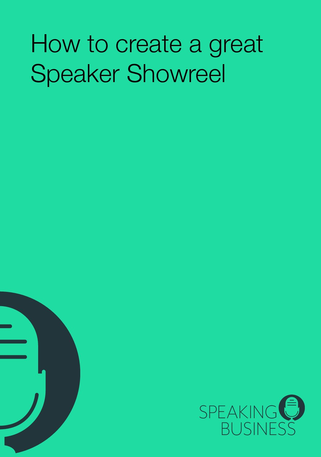 How to create a great Speaker Showreel