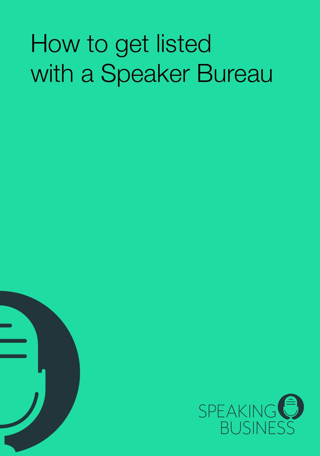 How to get listed with a Speaker Bureau